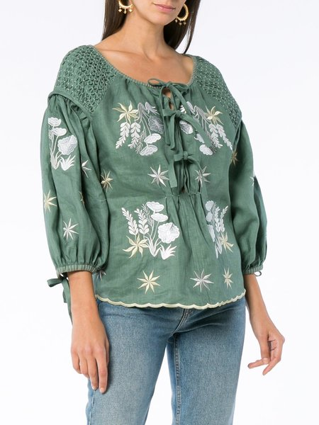 Innika Choo Smock Top - Green