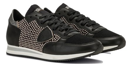 Philippe Model Tropez Studs Sneakers - Black