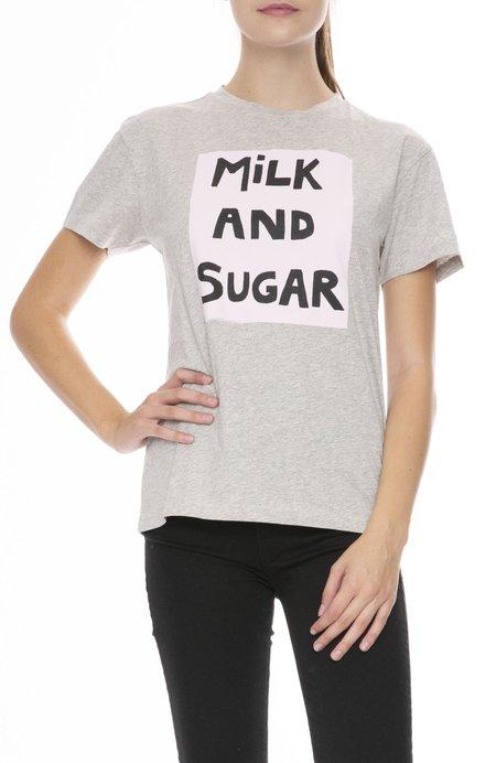 Bella Freud Milk and Sugar T-Shirt - Gray