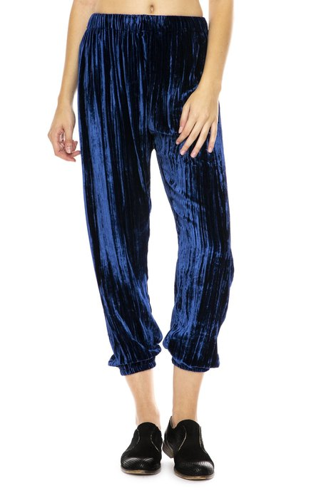 Forte Forte Pleated Velvet Pants