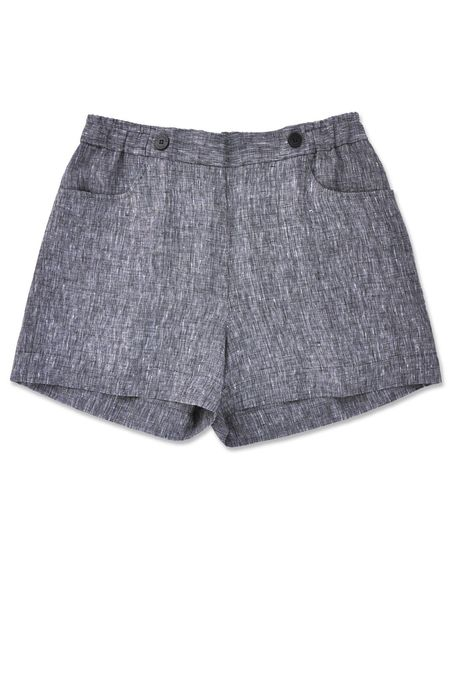 Standard Issue Linen Shorts - Black Mix