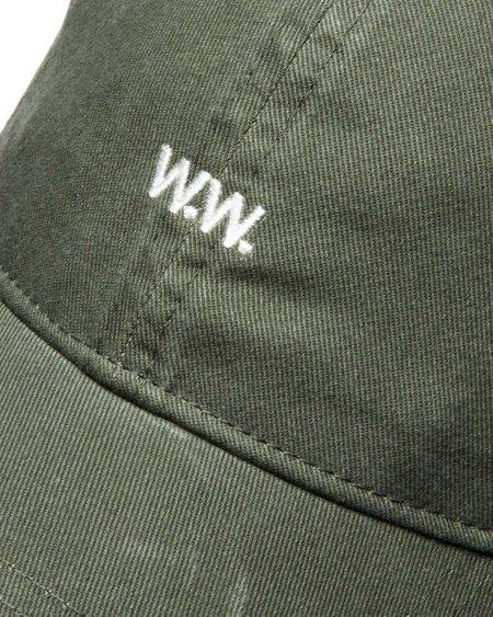 Wood Wood Low Profile Cap - Dark Green