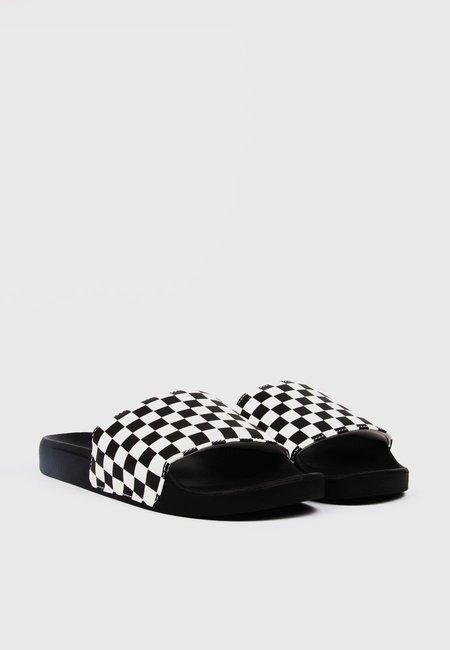 Vans Checkerboard Slide On - Black/White