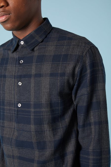 Barena Pavan Polvo Pullover Shirt - Charcoal Plaid