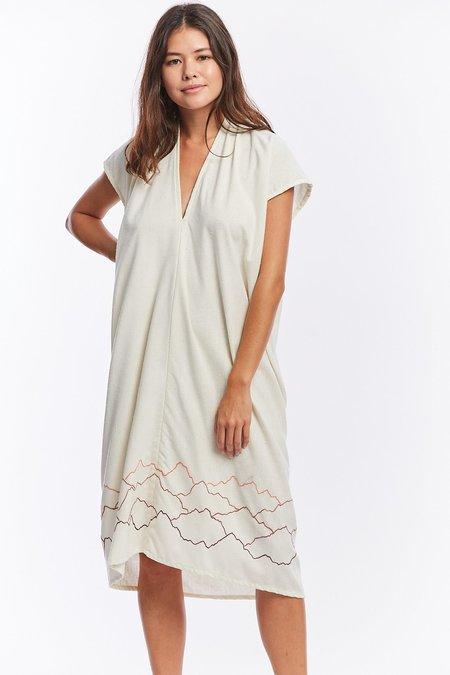 Miranda Bennett x Ft. Lonesome Silk Noil Everyday Dress - Natural