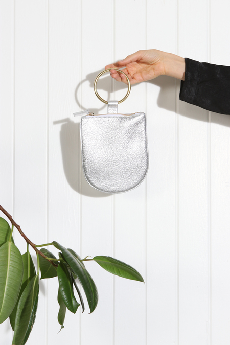 MYERS COLLECTIVE MEDIUM RING POUCH - SILVER