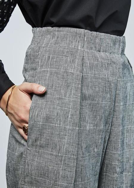 Fabiana Pigna Arbus High Waisted Pant - Grey Plaid