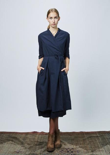 Hannoh Wessel Daniela Wrap Dress - Navy