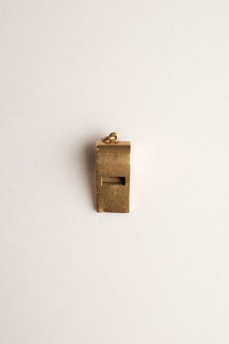 Vintage 14k Gold Whistle Charm Pendant
