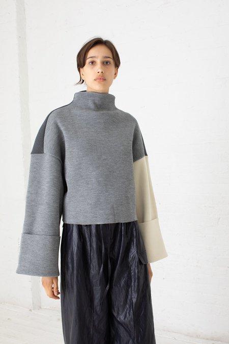 Rejina Pyo Parker Sweater - Charcoal/Light Grey/Ivory