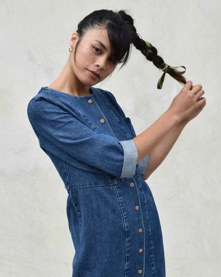 Ilana Kohn Rose Dress - BLUE
