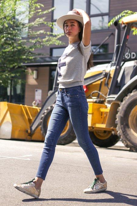 FRAME Denim Le High Skinny Clipper Street Jeans - Medium Blue Wash