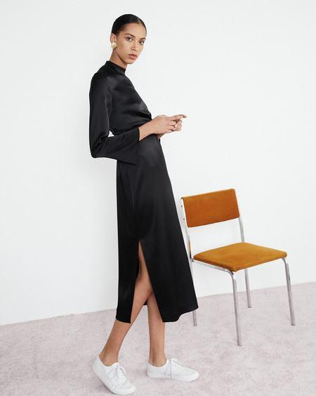 Nanushka Sadie Long Sleeve Belted Dress - Black