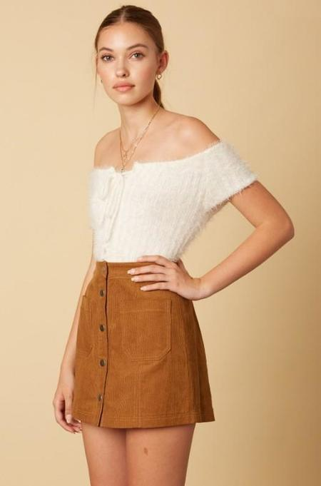 Trend Shop Fuzzy the Whale Sweater Top - Ivory
