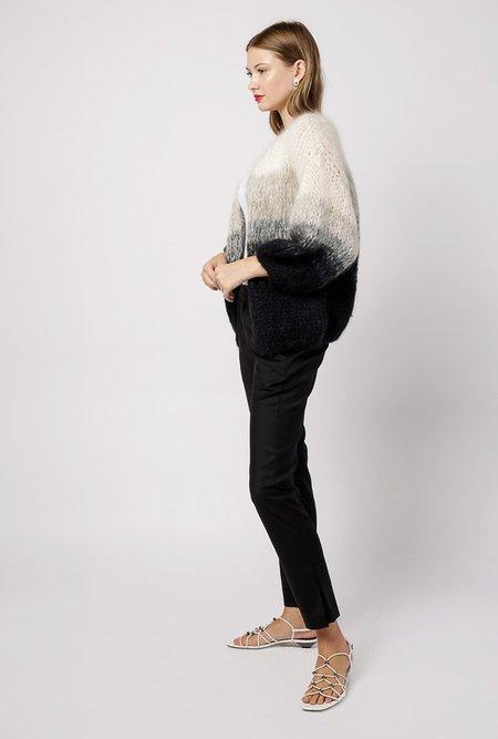 Maiami Mohair Big Gradient Cardigan - Black/Natural