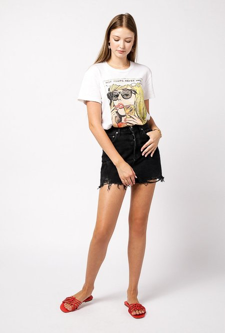 AGOLDE Quinn Mini Skirt - Black