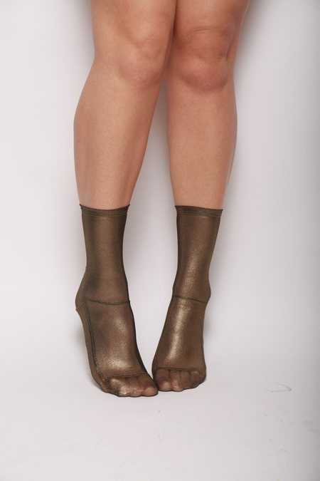 darner Mesh Socks -  Gold Foil