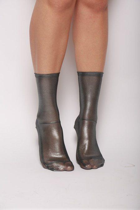 darner Mesh Socks - Silver Foil