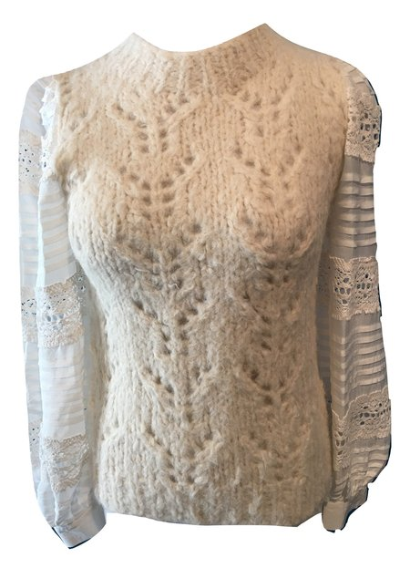 Sea NY Ellie Lace Sweater - Cream