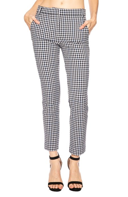 Tibi Beatle Cropped Pant - Gingham