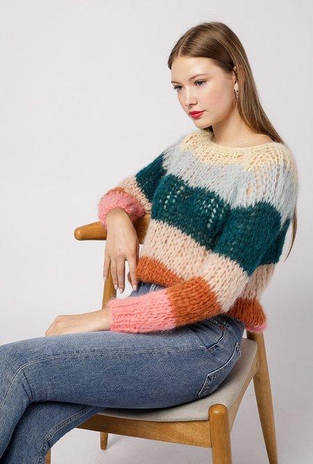 Maiami Basic Striped Sweater - Vanilla