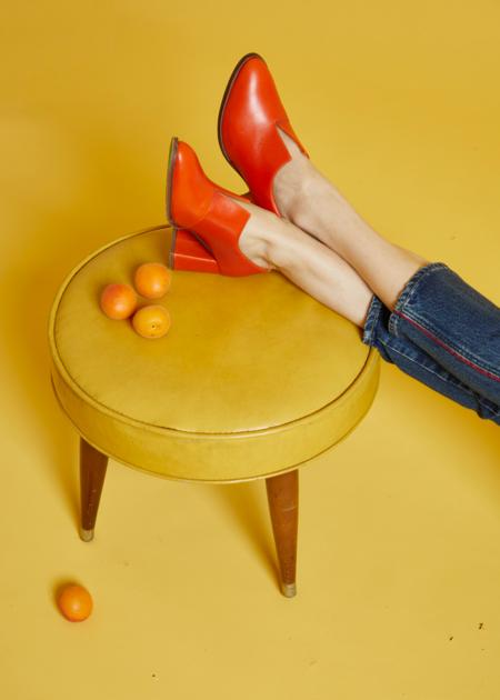 Rodebjer Penina Heel - Blood Orange