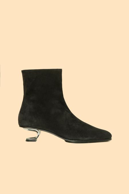Nicole Saldana yenna boots - black suede