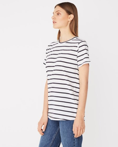 Assembly Label Everyday Tee - Worn Navy Stripe