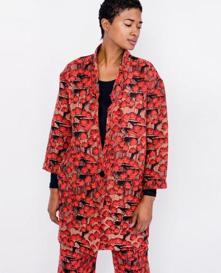 Eve Gravel Scarlet Sky Jacquard Jacket - Fleurs
