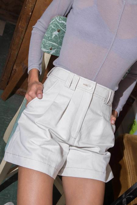P&V Pleated Shorts