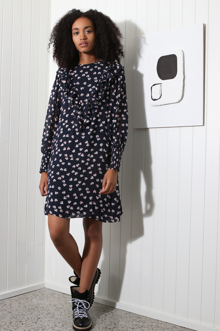 Ganni Rometty Georgette Dress - Total Eclipse