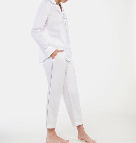 Laing Home Frank Cotton Pyjama Set - White
