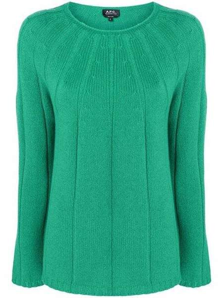 A.P.C. Round Neck Sweater - Apple Green