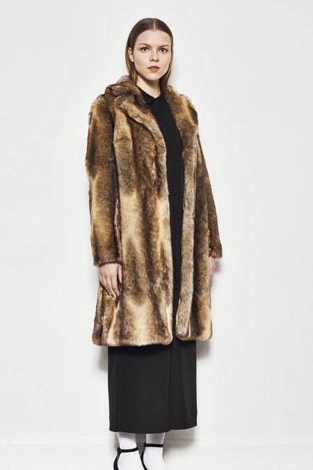 Just Female Enzo Faux Fur Coat - NATURE FOX