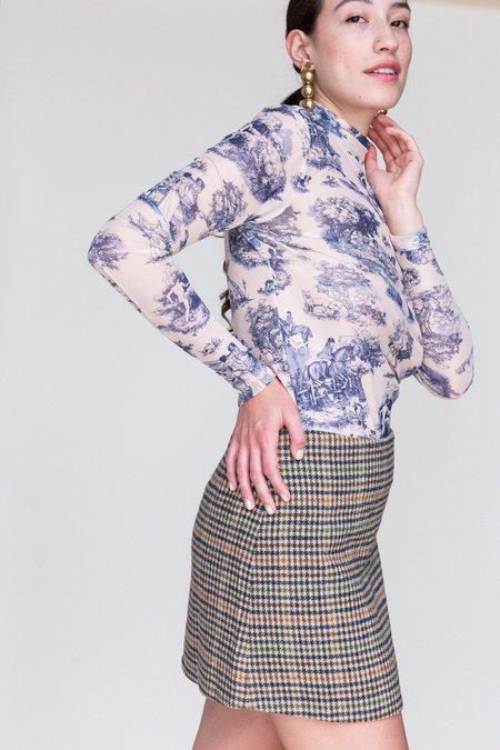 Rachel Antonoff Richard Miniskirt - Camel Check