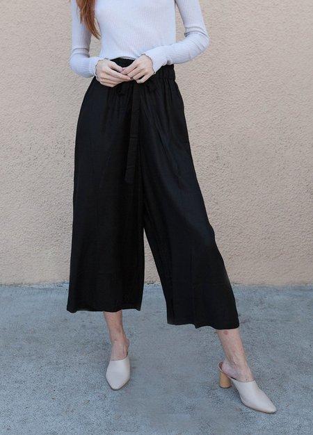Ali Golden Drawstring Pant - BLACK