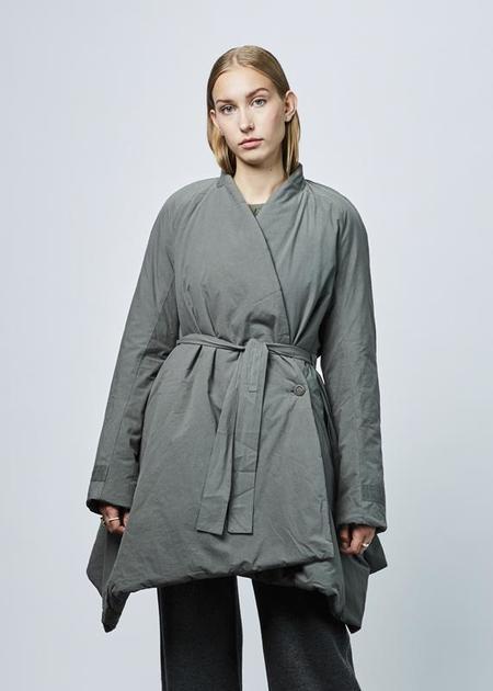 Hannoh Wessel Catalina Robe Coat - Lichen Grey