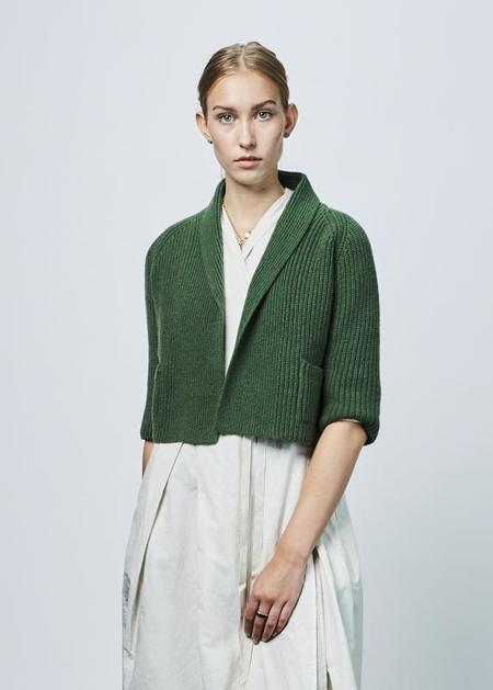 Hannoh Wessel Cropped Candy Cardigan - Green