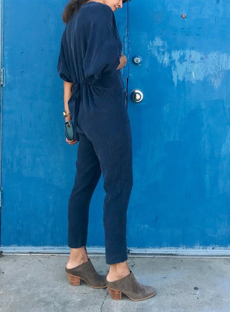 7115 by Szeki Workman Jumpsuit - Navy