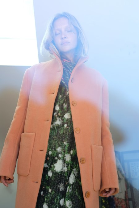 Anntian Long Shapy Jacket - Rust Apricot