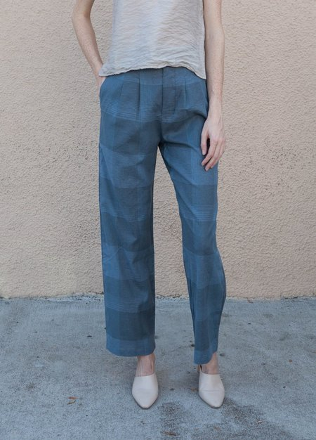 Lacausa Dylan Trousers - Emerald Plaid