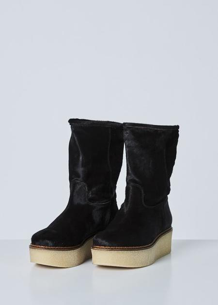 Flamingos Cheyenne Platform Boot - Dark Brown