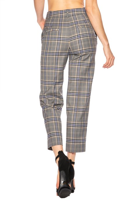 Tibi Taylor Lucas Suiting Pant - Plaid