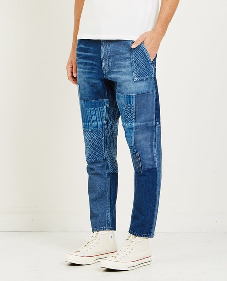 FDMTL CROPPED BORO DENIM 2 YEAR JEAN - MEDIUM INDIGO
