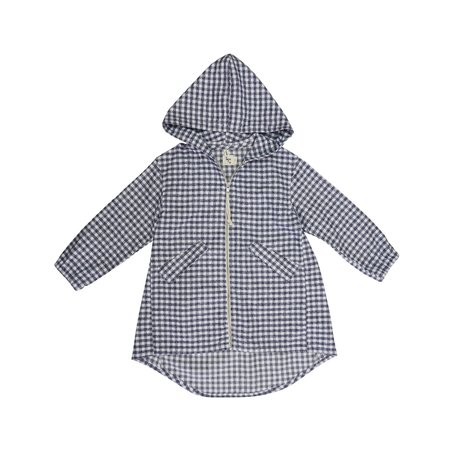 KIDS nico nico Hiro Parka - GREY CHECK