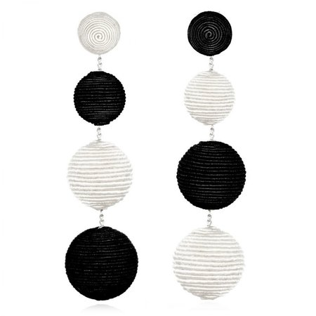 Suzanna Dai Gumball Earrings - Black/White