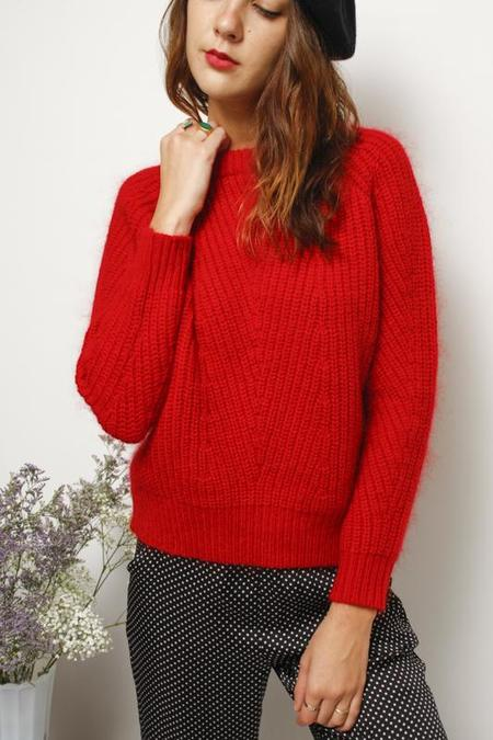 Demy Lee Chelsea Sweater - Carmine