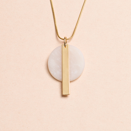 HIGHLOW JEWELRY Redux Necklace - Gold/Clay