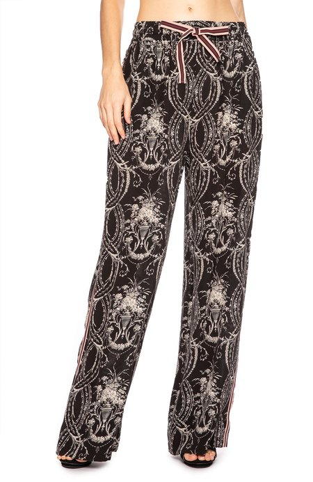 Zimmermann Fleeting Track Pant - Black Filigree Print