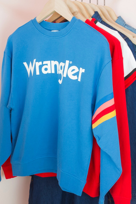 Wrangler Born Ready Sweatshirt - Rainbow Arm